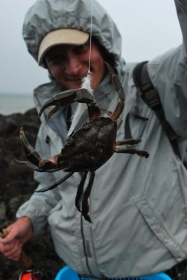 Hungry crab - Fishing deep can yield surprising results. Actually crabs are high on the bass menu