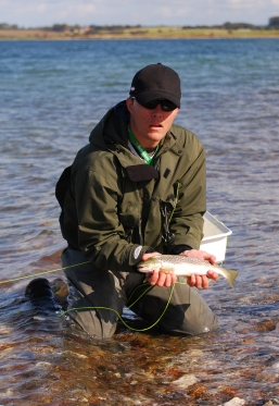 Richard's prize - Not big, but it's a sea trout