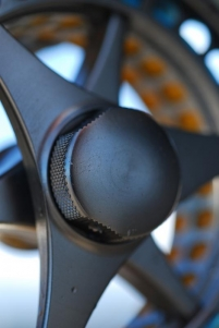Detail: knob - The breaking knob of a Loop reel. Illustrative but at the same time almost abstract