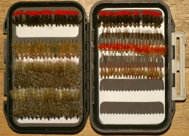 Fly box - Fly boxes contain rows of identical flies, end of story!