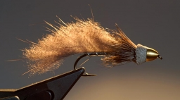 Full Metal Jacket Nutria Muddler - A Zonker, a muddler and a cone head fly.