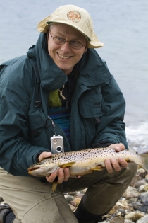 The first - Dutch Hans Weilenmann's first real sea trout - and a nice one too