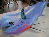 Hand painted dolphin -