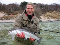 Big Hole Demon fish - Happy angler Jens with a Bornholm fish caught on a Big Hole Demon
