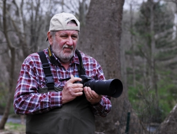 Henry Hegeman with the camera -