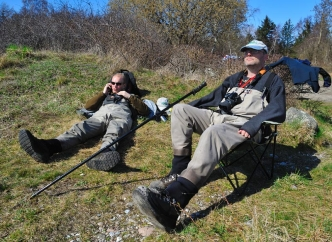 Resting - We have always taken it easy when fishing, but the tempo has been taken down a further notch