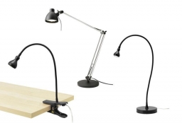 Lamps - This selection of IKEA lamps would all do fine for the home fly studio and are all less than 40 US$ so you can afford more than one.