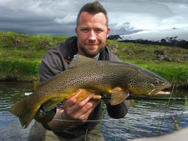 Brownie - Iceland also has some pristine brown trout fishing