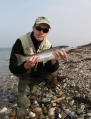 As nice as they come - Vanuz with a well deserved, bright sea trout