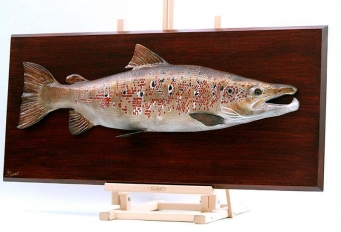 Classic fish mount - still carved in wood -
