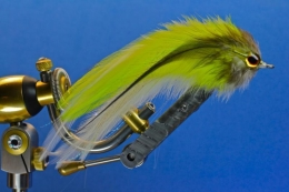 Super simple - Large hackle feathers and eyes and you can build a large fly that\'s still lightweight