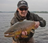 Jonas with a beautiful trout -
