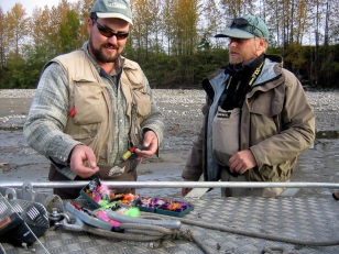 Dustin\'s boxes - Dustin\'s flyboxes came out on the banks of the mighty Skeena