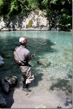 Fishing in the clean water -