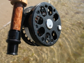 "Clean again - After a short ""rinse"" in saltwater the reel is once more ready for action"