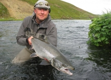 Nice size - Salmon in Iceland tend to be smallish, but this one is absolytely decent