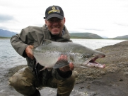 Cracking fish, cracking smile -