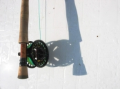 Fun with shadows - Here the reel and rod casts a shadow on a boat deck