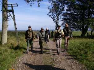 Hey ho, hey ho... - Anglers on the road: Latvian Ingemars Asmanis and Kristaps Knesis, Dutch Hans Weilenmann (background), British/Danish Ripley davenport and Danish Jesper Kamstrup.