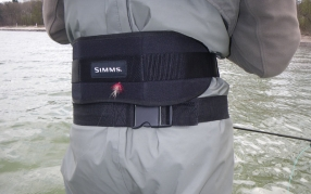 Wading belt, back support - The belt will keep the water out if you fall in, and the back support can save your weak back from straining