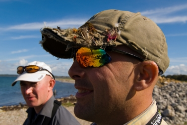 Nice glasses! Nice cap! - Steve Wade (background) and Ripley Davenport - both expelled brits with Danish affinities