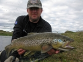 Great brown trout fishing in the north. -