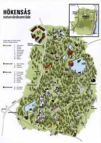 A map - The map shows the layout of the whole reserve and all the lakes