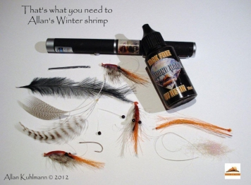 Materials - What you need to tie Alan\'s Winter Shrimp