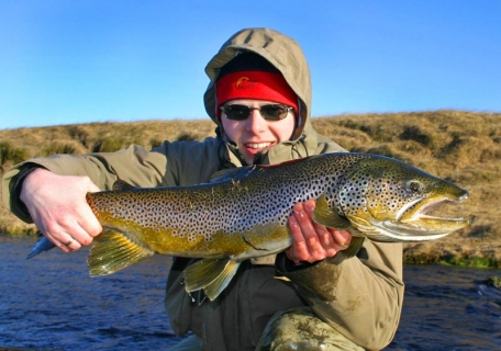 Hefty brown trout - A dire brownie from Minnivallalaekur