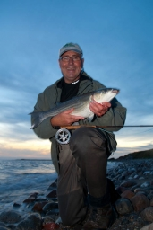 Hefty fish - Mullet are both large and strong, like this specimen caught by Henning Eskol