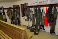 Drying room - A heated drying room makes sure the waders are dry and comfortable every morning