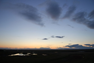 Ytri Rangá - The sun goes down over one of Icelands prime salmon waters