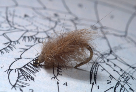 Hare's Ear Bug - The simplest fly imaginable--hook, thread and dubbing