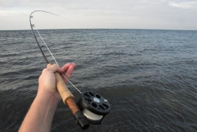 POV - A classical POV bent rod shot by the angler himself