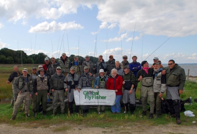 The whole group - Almost everybody attending the Global FlyFisher Summit 2008