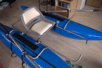 Just add water and row... - Fully assembled with oars mounted and all.