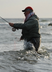 Rough weather - Some anglers use heavy gear when conditions are rough, but that usually not necessary