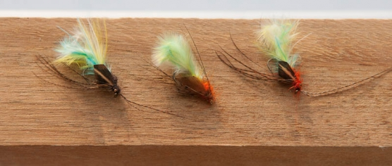 Action Emerging Caddis - Three different incarnations of the pattern