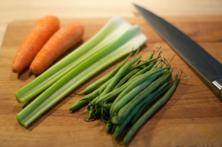 Carrots, celery and beans - Base for the filling