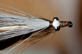 Right between the eyes - Hallmarks of the Clouser is the eyes and the strip of bucktail between them