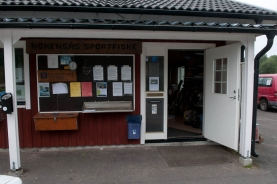 The local shop - The shop in the camping supplies licenses, flies and gear as well as updates on fishng conditions