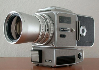 The Apollo Hasselblad - A manual film camera with a very large shutter button - under the lens