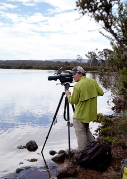 Nick filming - In Tasmania