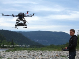Flying camera - The small octocopter controlled by Andreas Büttner makes it possible to do some stunning aerial shots