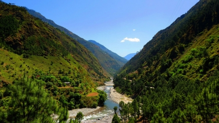 Himalayan stream - Most of the cold water streams and rivers in the Indian Himalayas have wild Brown Trout.