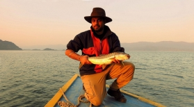 Lake mahseer - Himalayan Golden Mahseer is amongst the most challenging fish species to target with a fly rod.