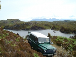 Arriving Loch Crocach -