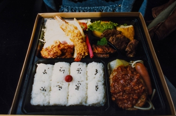 "Bento - Now, the Japanese know how to do a meal-on-the-fly. This was what greeted me on a bus ride in Japan when I opened my ""in flight meal\"""