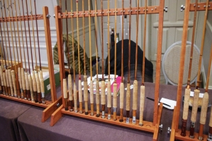 Cane rods on display -