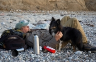 What we do well - Relaxing and petting is an important part of having a dog out fishing